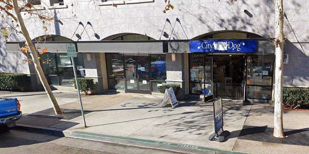 Storefront of City Dog, site of dog teeth cleaning in downtown San Diego by Qualified Pet Dental